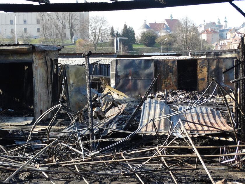 Pożar targowiska przy ul. Ruskiej w Lublinie