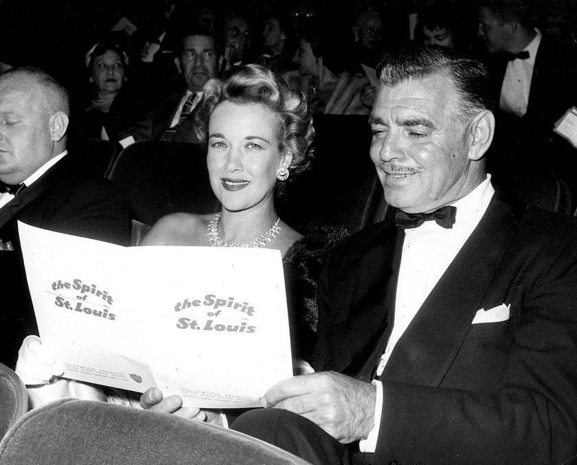 Clark Gable ze swoją ostatnią żoną Kay Williams