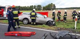 Tragedia na drodze. Mąż umierał na oczach żony