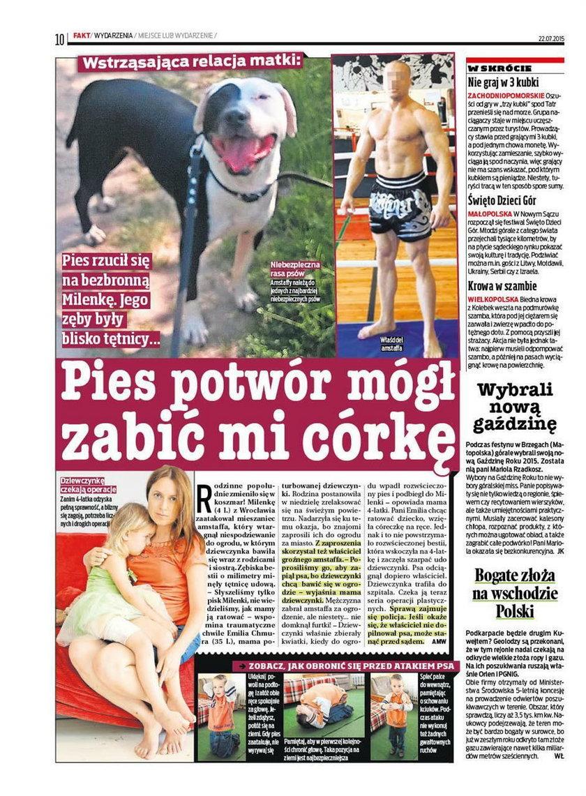 Psy bestie bez kontroli?
