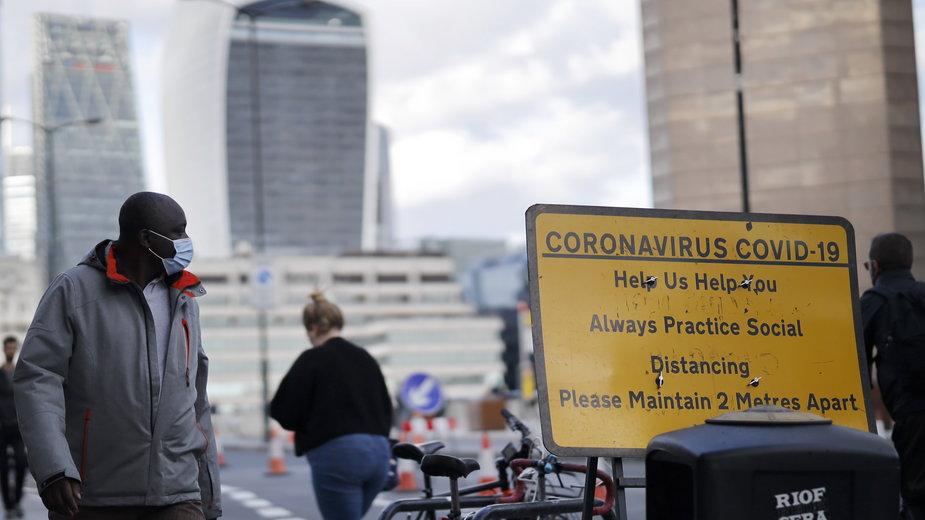 Koronawirus w Wielkiej Brytanii. Kolejny rekord zakażeń