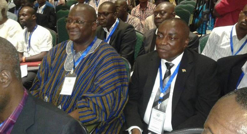 Paul Afoko with Kwabena Agyepong