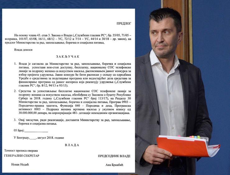 Ministar za rad, zaposljavanje, boracka i socijalna pitanja Zoran DJordjevic foto tanjug zoran zestic