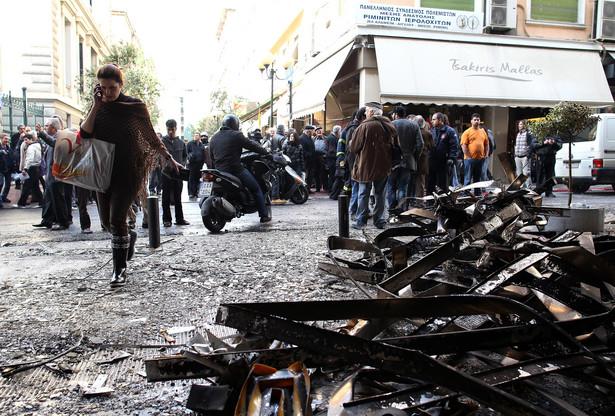 Grecja, Ateny po gwałtowych protestach