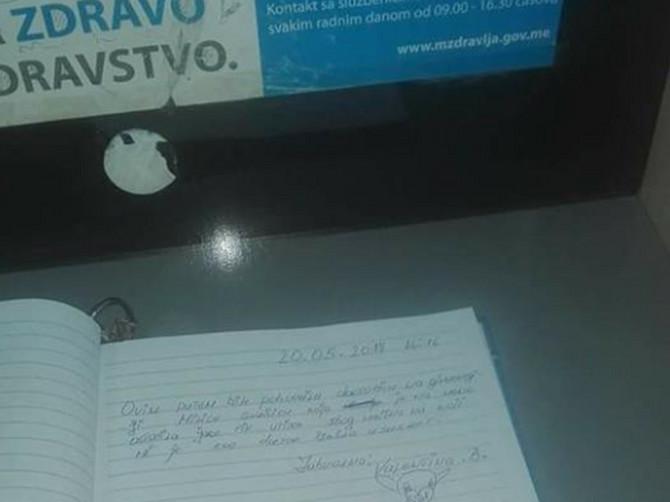 """Knjiga utisaka u ovom Domu zdravlja je postala HIT: """"Želim da pohvalim doktora Peru jer..."""""""