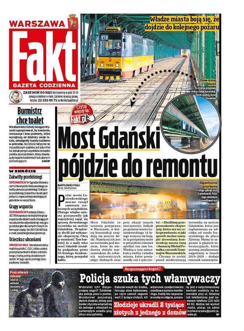 Most Gdański mógł spłonąć