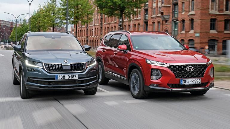 Porównanie dużych SUV-ów: Hyundai Santa Fe kontra Skoda Kodiaq