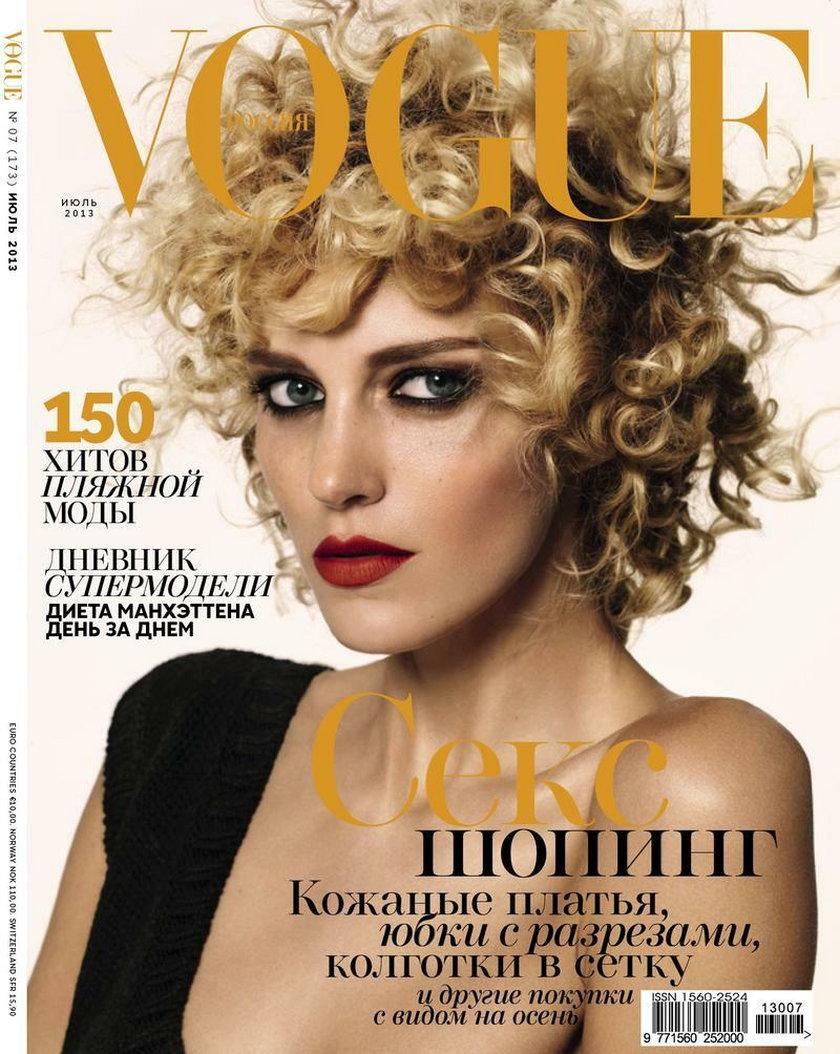 """""""Vogue Russia"""", lipiec 2013, na zdjęciu: Anja Rubik"""