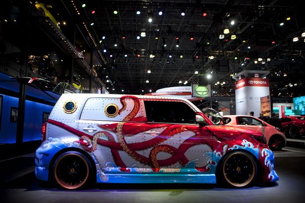 Specjalny design Toyoty Scion xB prezentowanej na New York International Auto Show (NYIAS) w Nowym Jorku, USA