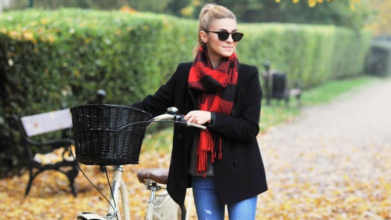 Kasia Tusk na rowerze