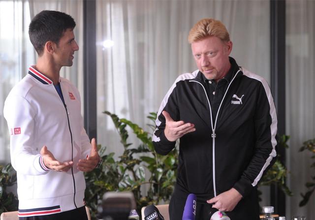 Novak Đoković i Boris Beker
