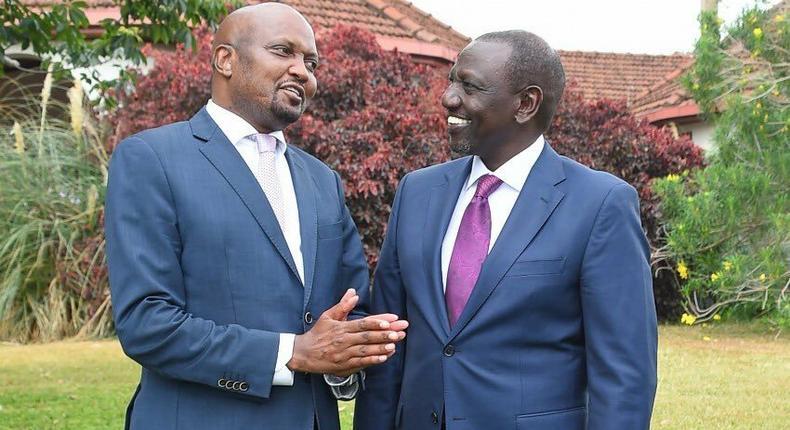 Moses Kuria and Deputy President William Ruto (Twitter)