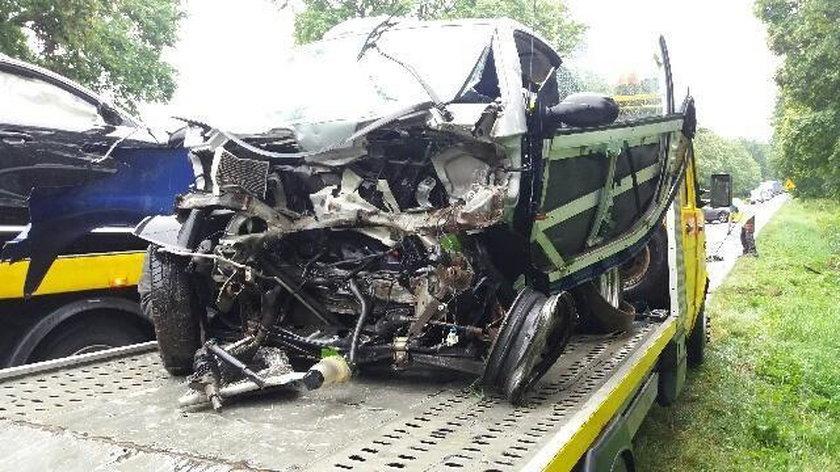 Groźnie wyglądający wypadek w powiecie żagańskim