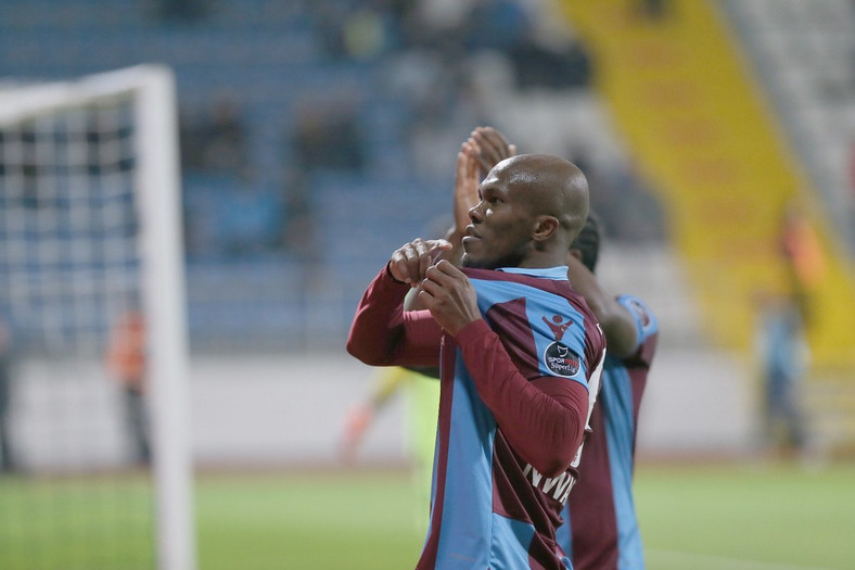 Anthony Nwakaeme recently got an improved contract from Trabzonspor to stop a move to China (TwitterTrabzonspor)
