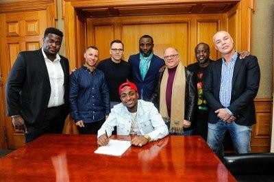 Davido signs global music deal with Sony BMG in 2016 [Instagram/Davido]