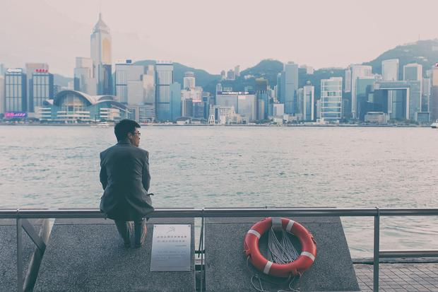 Hong Kong, widok na wyspę Hong Kong