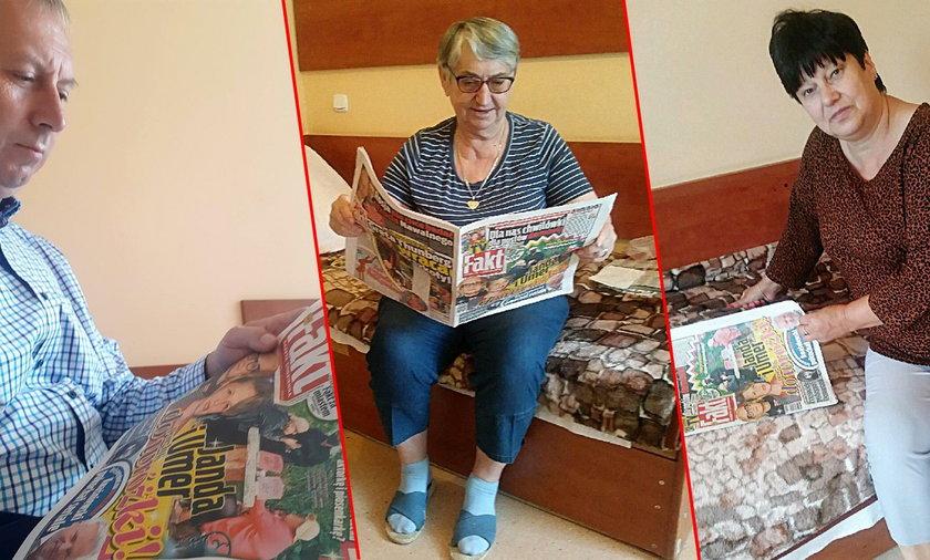 Kuracjusze bardzo ucieszyli się z gazet. Dzięki Faktowi mają co czytać