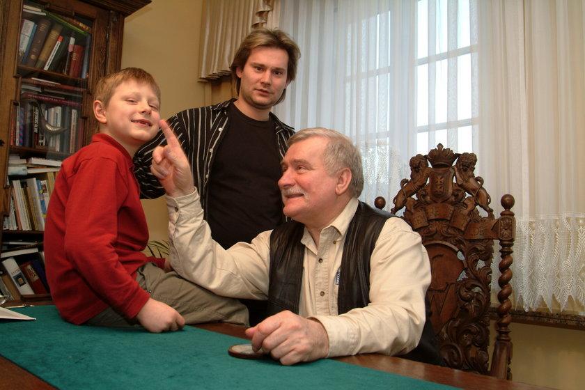 Lech Wałęsa z synem Sławomirem