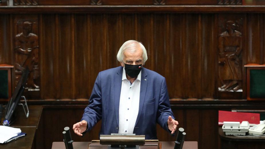 Wicemarszałek Ryszard Terlecki na sali obrad Sejmu w Warszawie