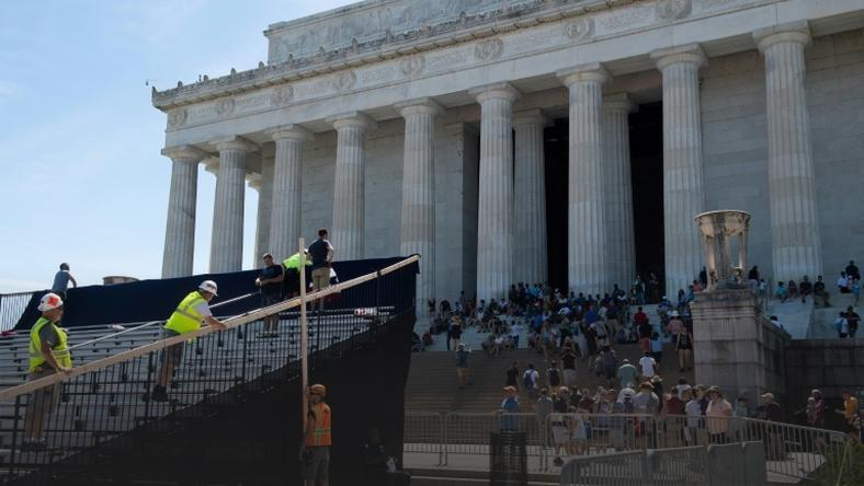 Preparations for President Donald Trump to make a July 4th speech from the steps of the Lincoln Memorial are nearly complete but the extravaganza will go against longstanding tradition