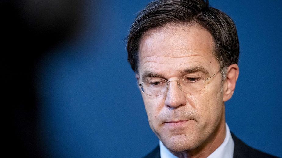 Premier Holandii Mark Rutte
