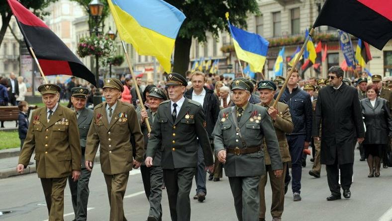 Marsz we Lwowie ku czci UPA