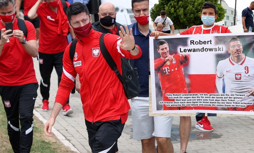 Na Roberta Lewandowskiego czekał wierny fan