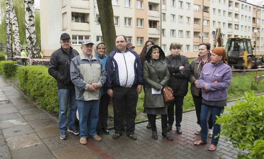 Protest mieszkańców wobec decyzji SM Górnik w K-cach