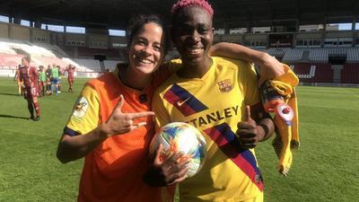 Super Falcons star Asisat Oshoala nets a hattrick in Barcelona's women's side big league win