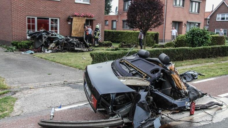 Belgijski serwis nieuwsblad.be publikuje zdjęcia ze spektakularnego wypadku polskiego kierowcy. Wszystko wydarzyło się w miejscowości Molenbeersel - przy granicy z Holandią...