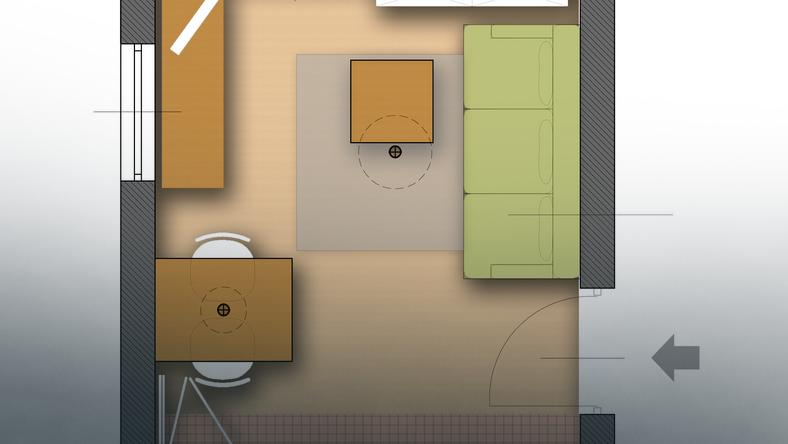 Mieszkanie 13 mkw.