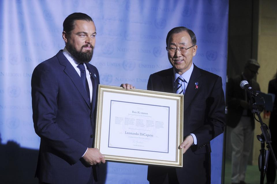 Leonardo DiCaprio Named UN Messenger Of Peace, New York
