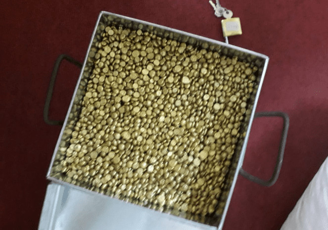 Fake gold nuggets recovered by DCI after a raid along Kiboko/Mukoma road (Twitter)