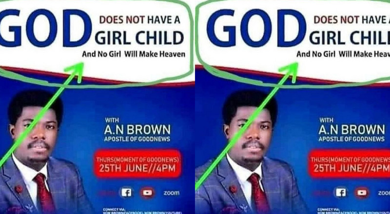 """God doesn't have a girl child; no girl will make heaven"" – Pastor ignites controversy"