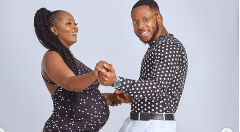 Check out beautiful baby bump photos of actor Aaron Adatsi and his baby mama, Eyram