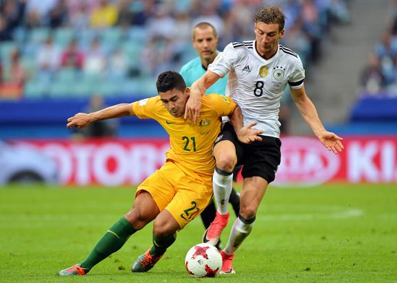 Gorecka (desno) na meču sa Australijom