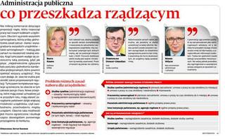 Administracja publiczna: Co przeszkadza rządzącym
