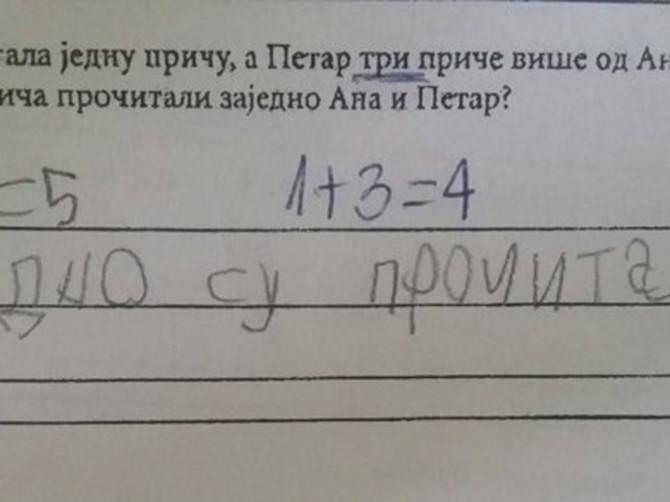 Zadatak koji je ZBUNIO SRBIJU: Šta vi kažete, da li je u pravu dete ili učiteljica? Tačan odgovor je MNOGE IZNENADIO