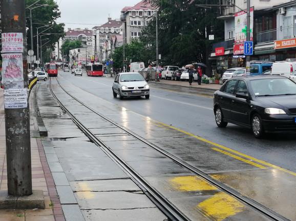 Požeška ulica na Banovom brdu poluprazna