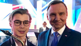 """Andrzej Duda i zwycięzca Eurowizji na jednym zdjęciu. """"Jestem mu bardzo wdzięczny za..."""""""