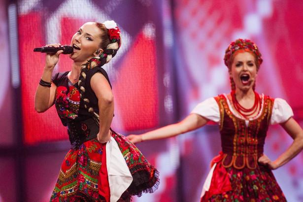 Występ Donatana i Cleo na Eurowizji. Fot. EPA/NIKOLAI LINARES/PAP/EPA