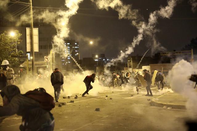 Demonstracije u Limi u novembru