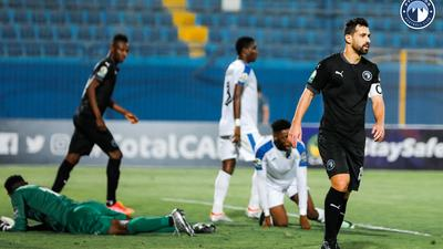 Enyimba's defence was a disaster in their 4-1 loss in the first-leg quarterfinal tie of the CAF Confederation Cup