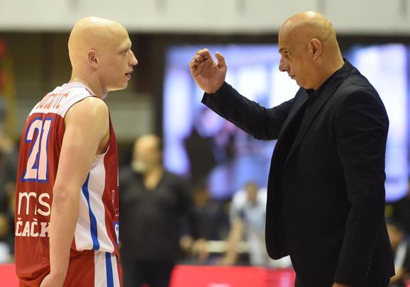 Ilija Đoković sa trenerom Borca Raško Bojićem