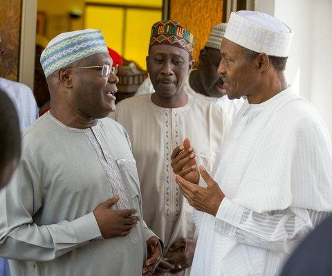 PDP Presidential candidate , Atiku Abubakar and President Muhammadu Buhari
