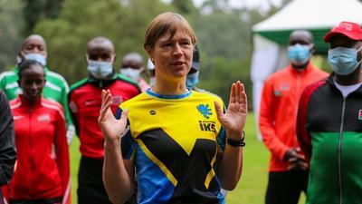 President of Estonia shocks Kenyans by running in Karura forest
