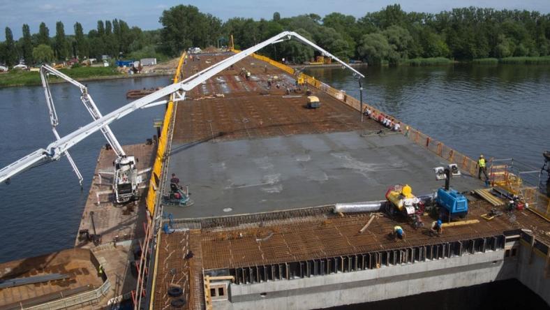 Od października zeszłego roku trwają prace przy przebudowie Mostu Cłowego