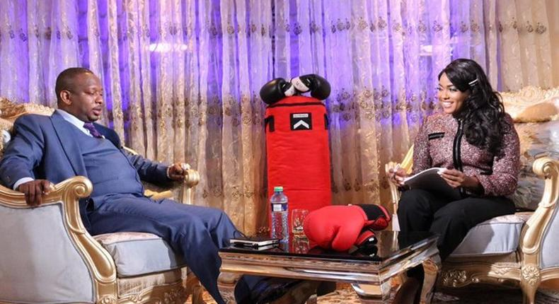 Awkward moment as Mike Sonko offers Deputy Governor position to Anne Kiguta during punchline interview