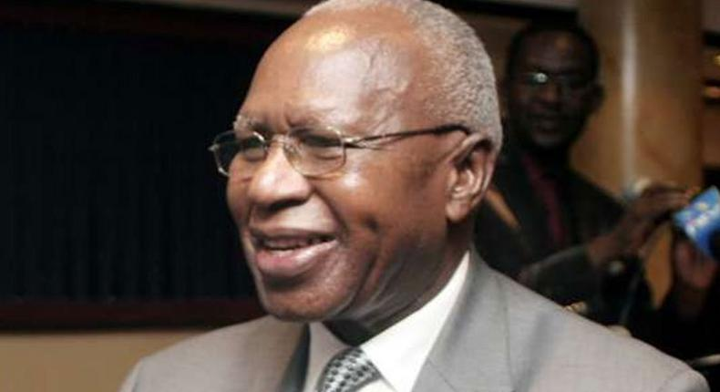 Former Finance Minister Simeon Nyachae