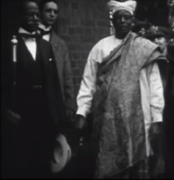 Herbert Macaulay (left) and Chief Amodu Tijani (right) at a wedding in London [Face 2 Face Africa]